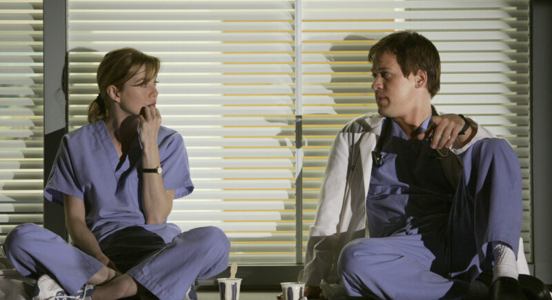 Stars der Serie Grey's Anatomy: Meredith Grey (Ellen Pompeo) und George O'Malley (T. R. Knight)